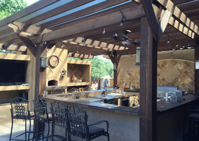 Outdoor kitchen company in Frisco